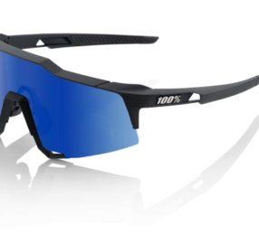 100% Speedcraft LL Soft Tact Black / Ice Blue Mirror