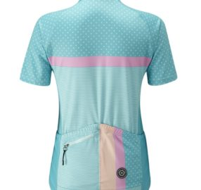Chapeau  Ladies Madeleine Polka Stripe Jersey Summer Sky C1257 Back Copy