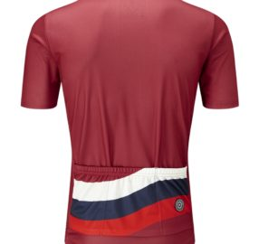 Chapeau  Mens Tempo Wave Chest Stripe Jersey Devon Red 951495 Back Copy 1